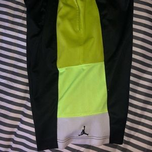 Black and green boys Jordan Nike shorts large